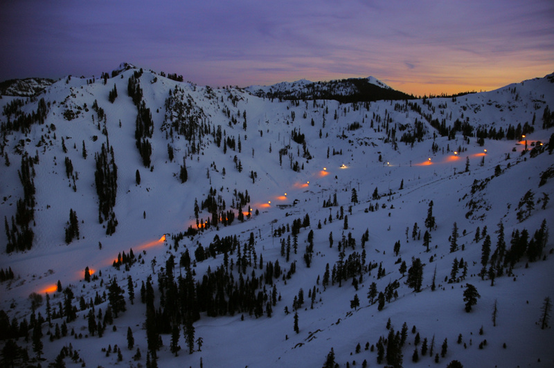 Nighttime at Squaw Valley